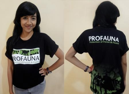 T-shirt New Logo Profauna 2014 warna hitam